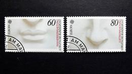 Deutschland 1278/9 Oo/used, EUROPA/CEPT 1986, David (Details); Skulptur Von Michelangelo (1475-1564)