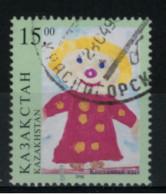 *C3* - KAZAKISTAN 1998 - Disegni Di Bambini  - 1 Val.  Oblit. - Bello
