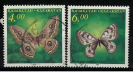 *C3* - KAZAKISTAN 1995  Farfalle  - 2 Val.  Oblit. - Belli