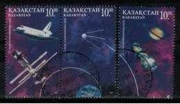 *C3* - KAZAKISTAN 1997 - Giornata Della Cosmonautica  - 3 Val.  Oblit. - Belli