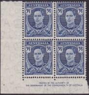 Australia 1942 P15x14 SG 207 Mint Never Hinged - Nuovi