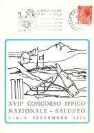 [MD0845] CPM - IPPICA - XVII° CONCORSO IPPICO NAZIONALE - SALUZZO - NUMERATA 32 - CON ANNULLO 1974 - NV - Horse Show