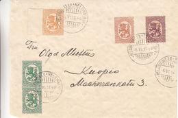 Finlande - Lettre De 1918 - Oblit Helsinki - Exp Vers Kuopio
