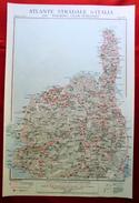 Foglio 48, Bastia - Corte, ATLANTE STRADALE D'ITALIA Touring Club Italiano 1923-26 (Dir. L. V. Bertarelli) - Carte Stradali