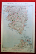 Foglio 49, Ajaccio - Sartena, ATLANTE STRADALE D'ITALIA Touring Club Italiano 1923-26 (Dir. L. V. Bertarelli) - Carte Stradali
