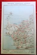 Foglio 50, Sassari - Alghero, ATLANTE STRADALE D'ITALIA Touring Club Italiano 1923-26 (Dir. L. V. Bertarelli) - Carte Stradali