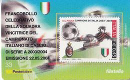 ITALIA 2004 - CAMPIONATO DI CALCIO MILAN - TESSERA FILATELICA - 6. 1946-.. Repubblica