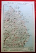Foglio 51, Tempio - Nuoro, ATLANTE STRADALE D'ITALIA Touring Club Italiano 1923-26 (Dir. L. V. Bertarelli) - Carte Stradali
