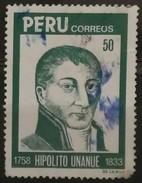 PERÚ 1984 CL Aniversario De La Muerte De Hipolito Unanue, 1758-1833. Fundador De La Escuela De Medicina. USADO - USED. - Peru