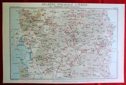 Foglio 52, Oristano - Lanusei, ATLANTE STRADALE D'ITALIA Touring Club Italiano 1923-26 (Dir. L. V. Bertarelli) - Carte Stradali