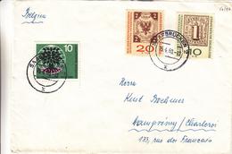 République Fédérale - Lettre De 1960 - Oblit Saarbrucken - Réfugiés - Timbres Sur Timbres