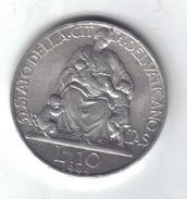 VATICAN CITY CITTA´ DEL VATICANO 10 LIRE 1949 Q.SPL D.047 - Vatican