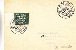 République Fédérale - Carte Postale De 1961 - Imprimé - Oblit Spéciale Wunstorf - Flugtag - Avions - Chevaux