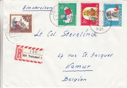 République Fédérale - Lettre Recom De 1967 - Oblit Troisdorf - Contes De Grimm - Timbres De Fermeture - Noël - Fleurs