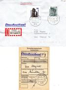 République Fédérale - Lettre Recom De 1989 - Oblit Augburg - Entier Postal Découpé -