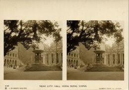 China, HONG KONG, Near City Hall (1900s) Sunbeam Stereo Card, Dearden Holmes - China (Hong Kong)