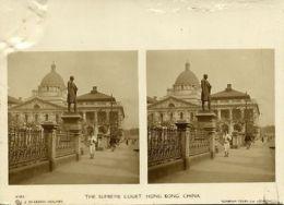 China, HONG KONG, The Supreme Court (1900s) Sunbeam Stereo Card, Dearden Holmes - China (Hong Kong)