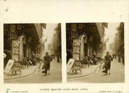 China, HONG KONG, Chinese Quarter (1900s) Sunbeam Stereo Card, Dearden Holmes - China (Hong Kong)