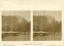 China, HONG KONG, The Quay (1900s) Sunbeam Stereo Card, Dearden Holmes - China (Hong Kong)