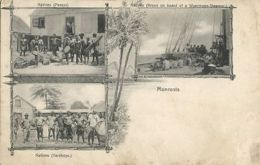 Liberia, MONROVIA, Native Pessys, Yardboys, Kroos On Board Woermann Steamer 1905 - Liberia