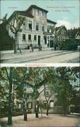 AK Langen, Restauration Z. Lindenfels V. Jakob, Meckes, Haushaltungsschule, Um 1910 (23110) - Langen