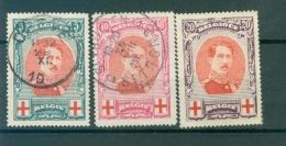 132-134  Obl  134 X Tâche - 1918 Croix-Rouge