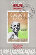 Sommer-Olympiade Mexiko 1968 Sharjah 512+Block C 43 O 6€ Olympiasieger Zatopek Bloc Sport S/s Olympics Sheet Bf VAE