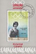 Sommer-Olympiade Mexiko 1968 Sharjah 516+Block G 43 O 6€ Olympiasieger Fraser USA Bloc Sport S/s Olympics Sheet VAE - Summer 1964: Tokyo