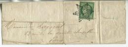 N°2 Variété Vert Très Foncé + étoile/lettre De Paris Pour Paris - 1849-1850 Cérès
