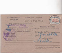 CARTE DE RAVITAILLEMENT DE SARREWERDEN 1946 - Other Municipalities