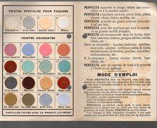 (valence Drôme) Carte De Nuances Des Peinture à L'eau PERFECTA (2e Type) (PPP4396B) - Publicités