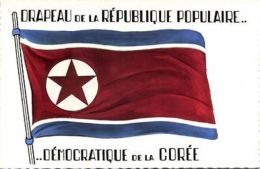 Korea Coree, FLAG Of The Democratic People's Republic (1960s) Patriotic - Corée Du Sud