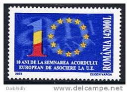 ROMANIA 2003 10th Anniversary Of Association With EU MNH / **.  Michel 5711 - 1948-.... Republics