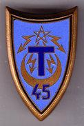 45° RT. 45° Rgt De Transmissions. émail Grand Feu. AB. Rue De Rennes. - Esercito