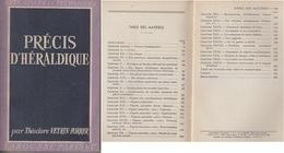 C1  Veyrin Forrer PRECIS D HERALDIQUE Larousse 1951 ILLUSTRE - Histoire