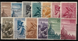 VATICAN - 1953/58, 13VALUES. AIR - Gebraucht