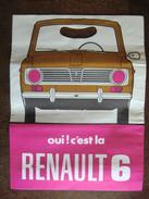 Rare Sac Papier Publicitaire Pour La Renault 6 Année 1968 D'origine Vintage Deux Faces Différentes - Automobil