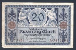 ALLEMAGNE 20 Mark 04/11/1915 - [ 2] 1871-1918 : Empire Allemand
