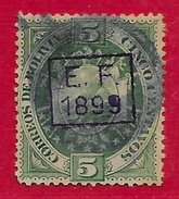 Bolivie N°56 5c Vert (surcharge EF 1889) 1899 O - Bolivia