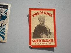 King Of Yemen Safety Matches, Made In Yugoslavia