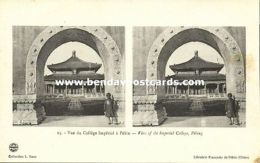 China, PEKING PEIPING, Stereoview, View Of Imperial College (1910s) - China