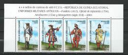 Equatorial Guinea 2001 Historical Uniforms.Strip Of 4.MNH - Guinée Equatoriale