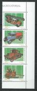 Equatorial Guinea 2001 Fire Engines.Strip Of 4.MNH - Guinée Equatoriale