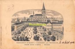 CPA PENSIONNAT STE MARIE A ALSEMBERG PRES BRUXELLES STATION RHODE ST GENESE BELGIQUE - Rhode-St-Genèse - St-Genesius-Rode