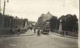Finland Suomi, TURKU ÅBO, Street Scene With Tram To Kanalbanken (1930s) RPPC - Cartes Postales
