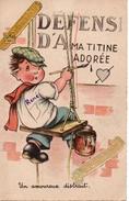 CPA Humoristique - Un Amoureux Distrait - Thanksgiving
