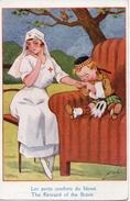 CPA Humoristique -Les Petits Conforts Du Blessé - Thanksgiving