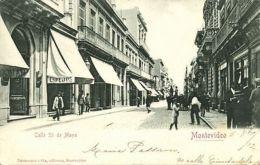 Uruguay, MONTEVIDEO, Calle 25 De Mayo, Shops (1902) Stamp - Uruguay