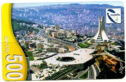 Phonecard Télécarte Mobilis Algérie Algeria - Alger Mémorial Des Martyrs - Algiers Memorial Of Martyrs Telefonkarte - Algeria