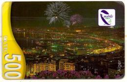 Phonecard Télécarte Mobilis Algérie Algeria - Alger De Nuit - Algiers By Night Telefonkarte Argel